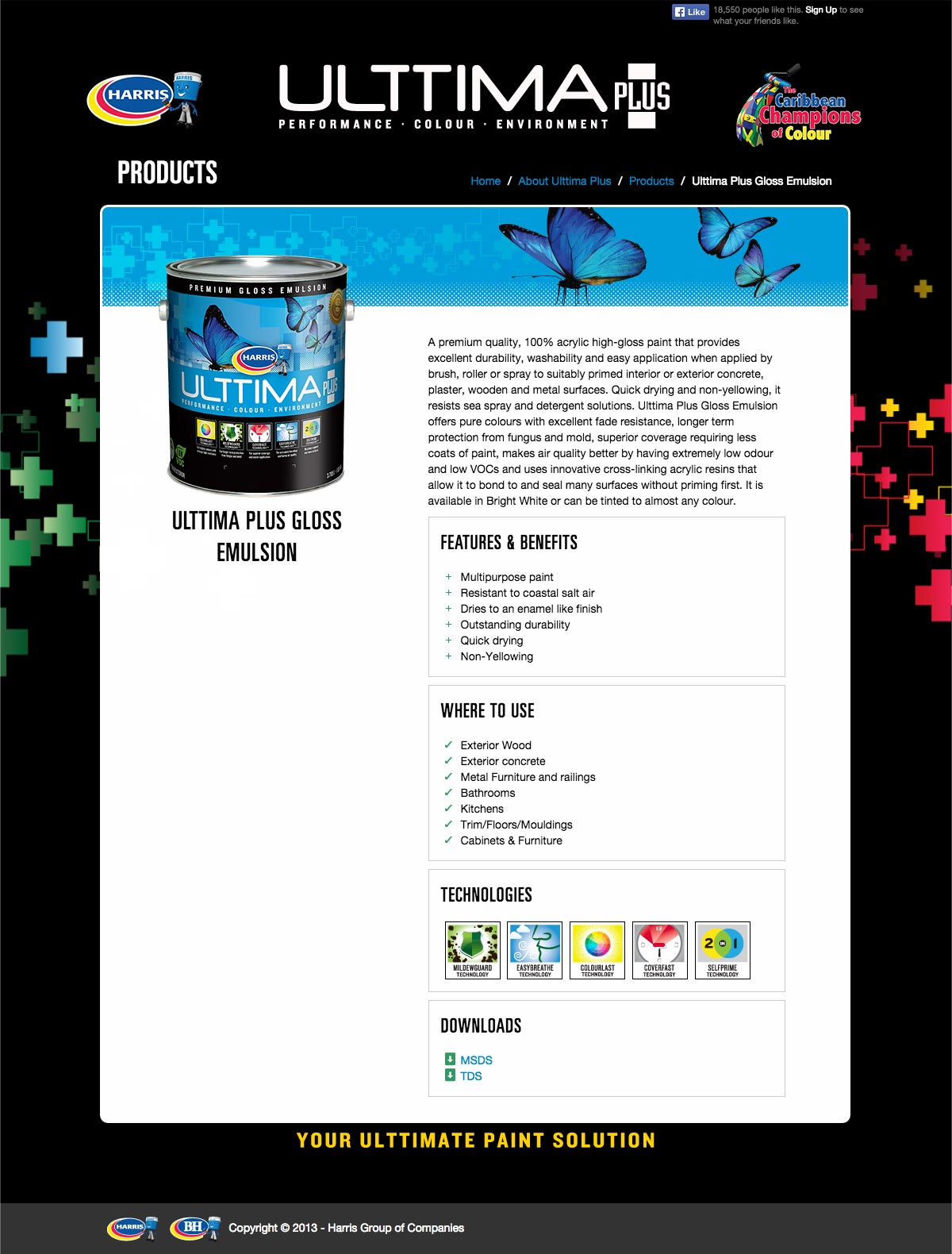 Blueshift Toronto Marketing Agency Portfolio Item – Ulttima Plus Paint Products Gloss Emulsion