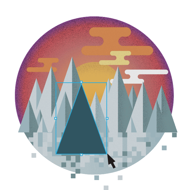 Blueshift Sample Graphic of Mountains - Toronto Web Design