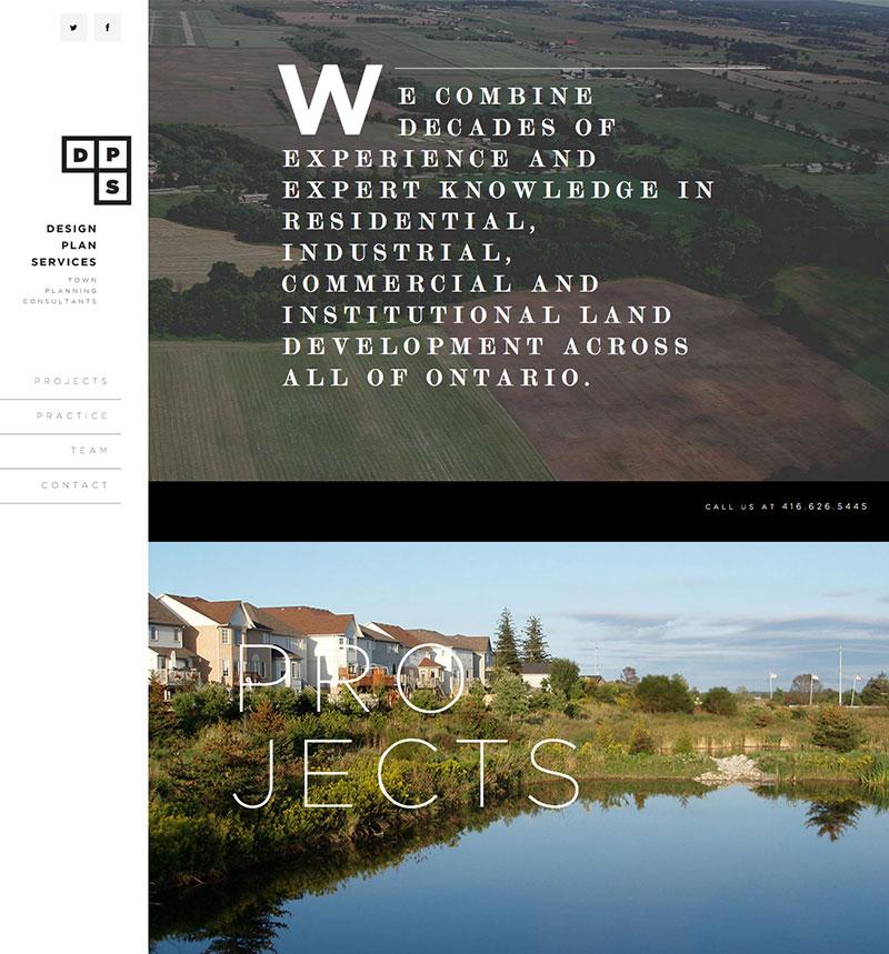 Blueshift Toronto Marketing Agency Portfolio Item - Design Plan Services Website Screenshot