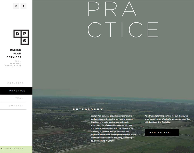 Blueshift Toronto Marketing Agency Portfolio Item - Design Plan Services Website Our Philosophy